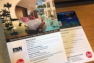 travel incentive flyer